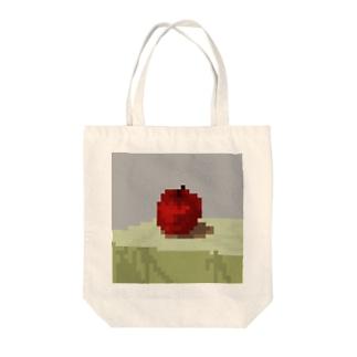 ピクセルりんご Tote bags