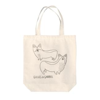 GILLES & GABRIEL なかよし Tote bags