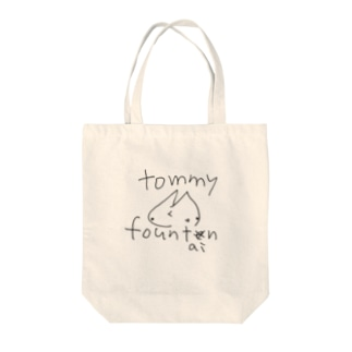 rough tommy (black line) Tote bags