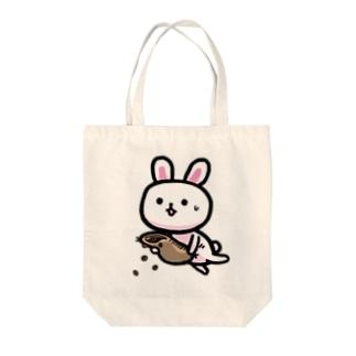 うさぎ 散るモカ也 Tote bags