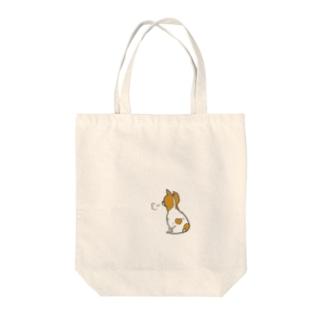 ジャックラッセルテリアのもーちゃん Tote bags