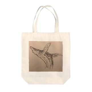 和柄 鯨 Tote bags