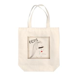 エロス Tote bags