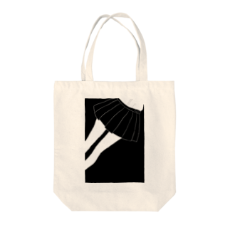piorのスカート(モノクロ) Tote bags