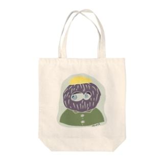hair ball man Tote bags