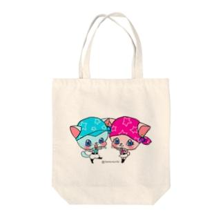 『星屑職人ニャラクシー』テラとティエラのトートバッグ Tote bags
