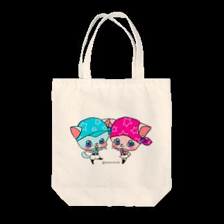 夢璃希 智の『星屑職人ニャラクシー』テラとティエラのトートバッグ Tote bags