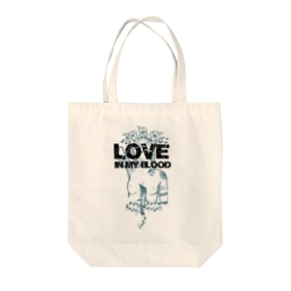 Love in my blood トートバッグ