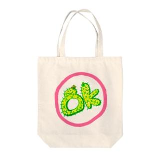 サボミ&テンコ《OK》 Tote bags