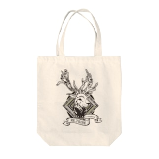 a staghead Tote bags
