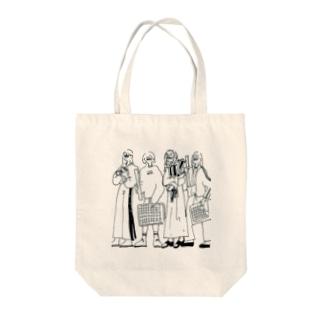 毎日がんばる女の子たち Tote bags