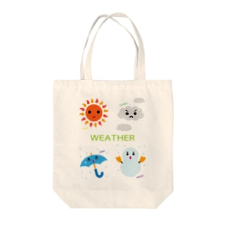 WEATHER Tote bags