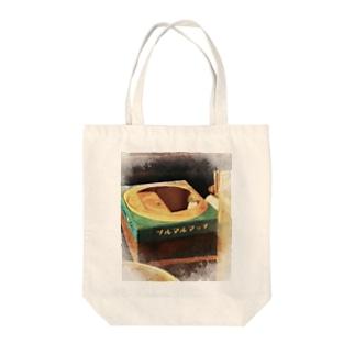 ツルマルマッチ Tote bags
