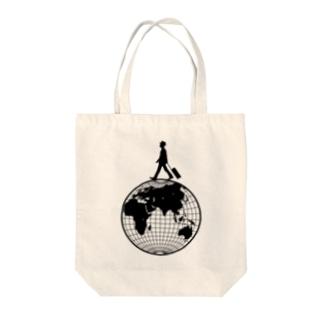 トラベラー(地球儀) Tote bags