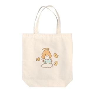 うんこ神のバッグ Tote bags