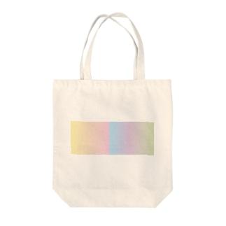 パステルカラー(レインボー) Tote bags