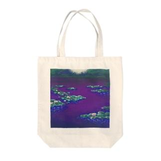 睡蓮 Tote bags