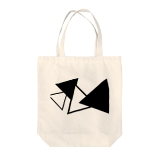 さんかく(white×black) Tote bags