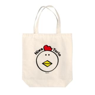 にわ とり男【顔カラー】 Tote bags