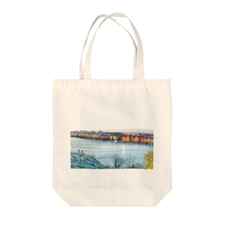 Stockholm view Tote bags