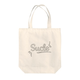 Sucleのポップな黒いロゴ トートバッグ