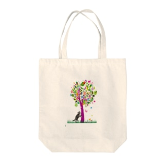 サンプル=木の下バージョン。 Tote bags