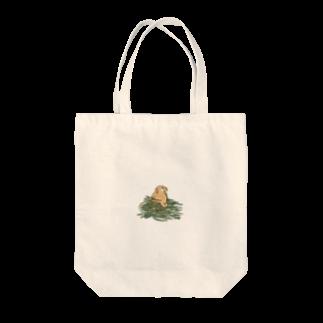 SCHINAKO'Sのチモシーに埋もれるうさぎさん オレンジロップ Tote bags