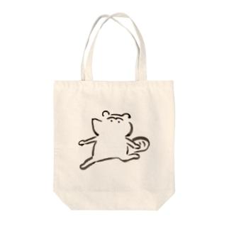 るんるんたぬき Tote bags
