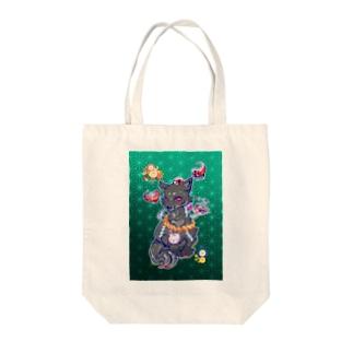 王子の狐(黒) Tote bags