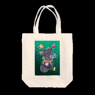 アルルの王子の狐(黒) Tote bags