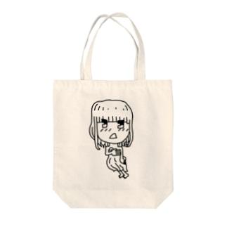 恥ずかしがーる Tote bags