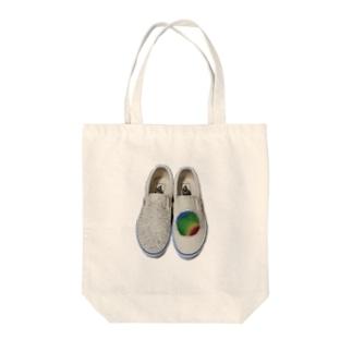 脳波デザイン Tote bags