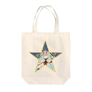 ティッシュババア(背景付き星型)トートバッグ Tote bags