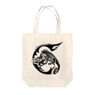 にしのひつじかいのカメレオン Tote bags