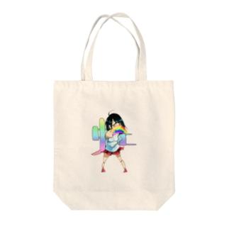 虹 手話と漢字 Tote bags