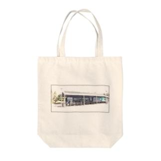 展示される機関車 Tote bags