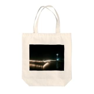 函館 五稜郭公園の夜 Tote bags