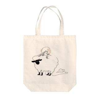 羊の背中で眠る Tote bags