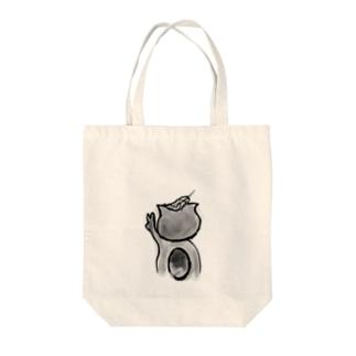 タヌキのサスケ Tote bags