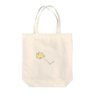 ぽいーん Tote bags
