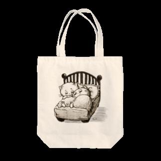 Pokopoko houseのちいさなベッド Tote bags