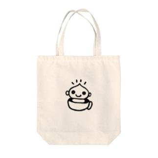 ひぐらしくんグッズ_黒文字 Tote bags