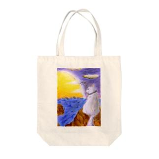 港育ちの黄昏 Tote bags