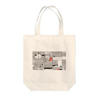 街と魚 Tote bags