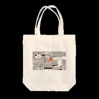 泳(ei)の街と魚 Tote bags