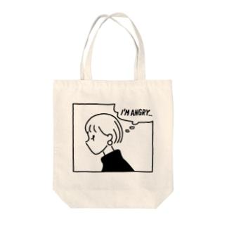 I'M ANGRY Tote bags