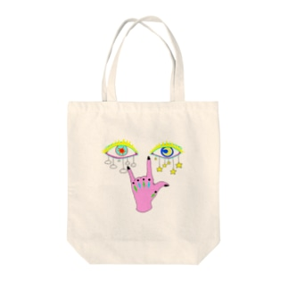 ぱっちりおめめ(天気) Tote bags