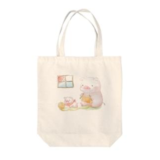 ぶーちゃんの親子 Tote bags