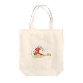 Drunk北斎 Tote bags