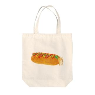 ホットドッグドッグ Tote bags